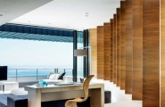 Fabulous Work Spaces Outside Views : Charming Work Space With Wooden Paneling Theme