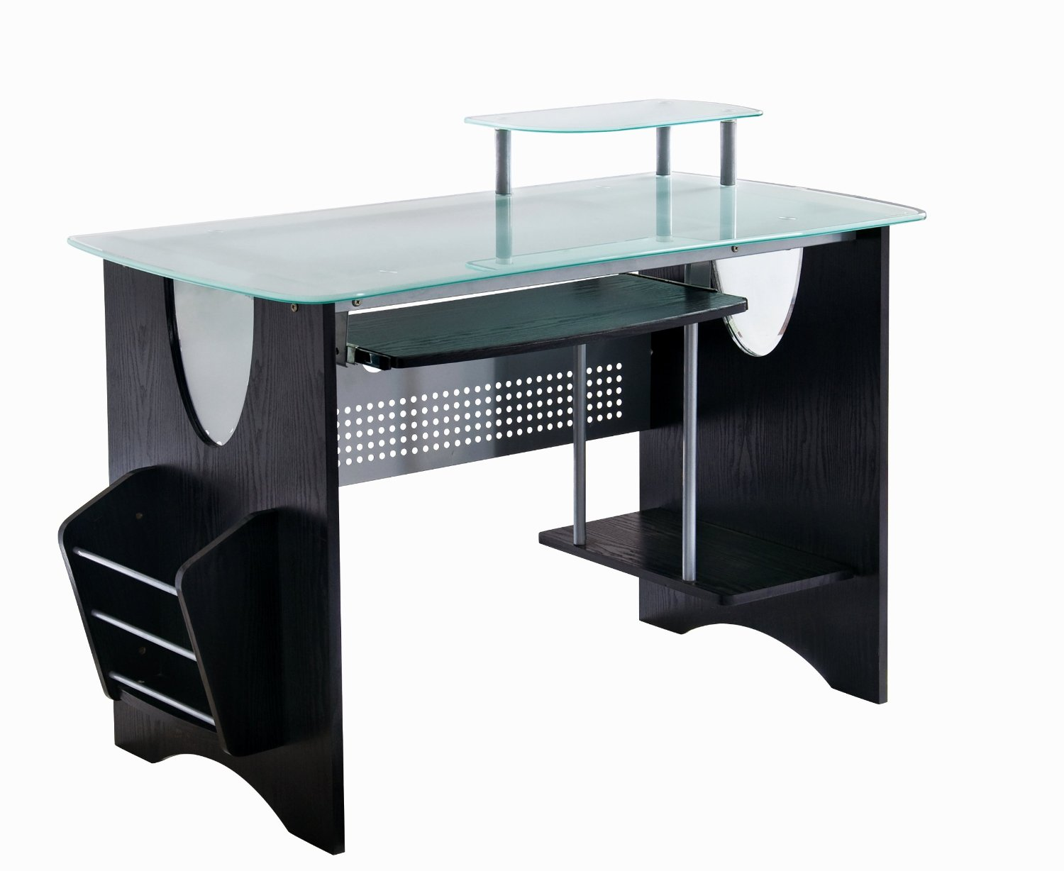 Cheap Modern Computer Desk In Elegant Wooden Design : Cheap Modern Computer Desk Black Color Ideas