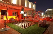 Gorgeous Outdoor Living Space With The Creative Design : Chess Outdoor Living Space Design