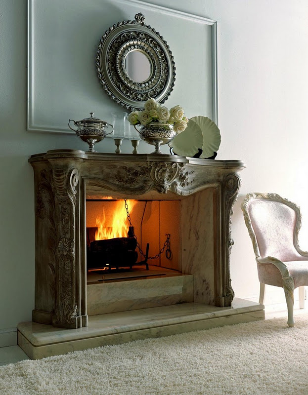 Fireplace Design Ideas For Classic Houses : Classic Italian Fireplaces By Savio Firmino