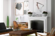 Mesmerizing Loft Decor With Dazzling Natural Look : Classic Living Room Design With Fireplace Beautiful Urban Loft
