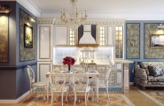 Exciting Kitchen Dining Ideas For Small House : Classic Style Kitchen Dining Room Design