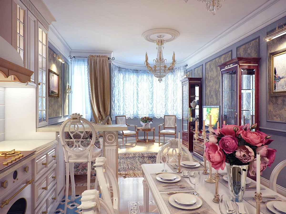Exciting Kitchen Dining Ideas For Small House : Classical Kitchen Dining Room Decor