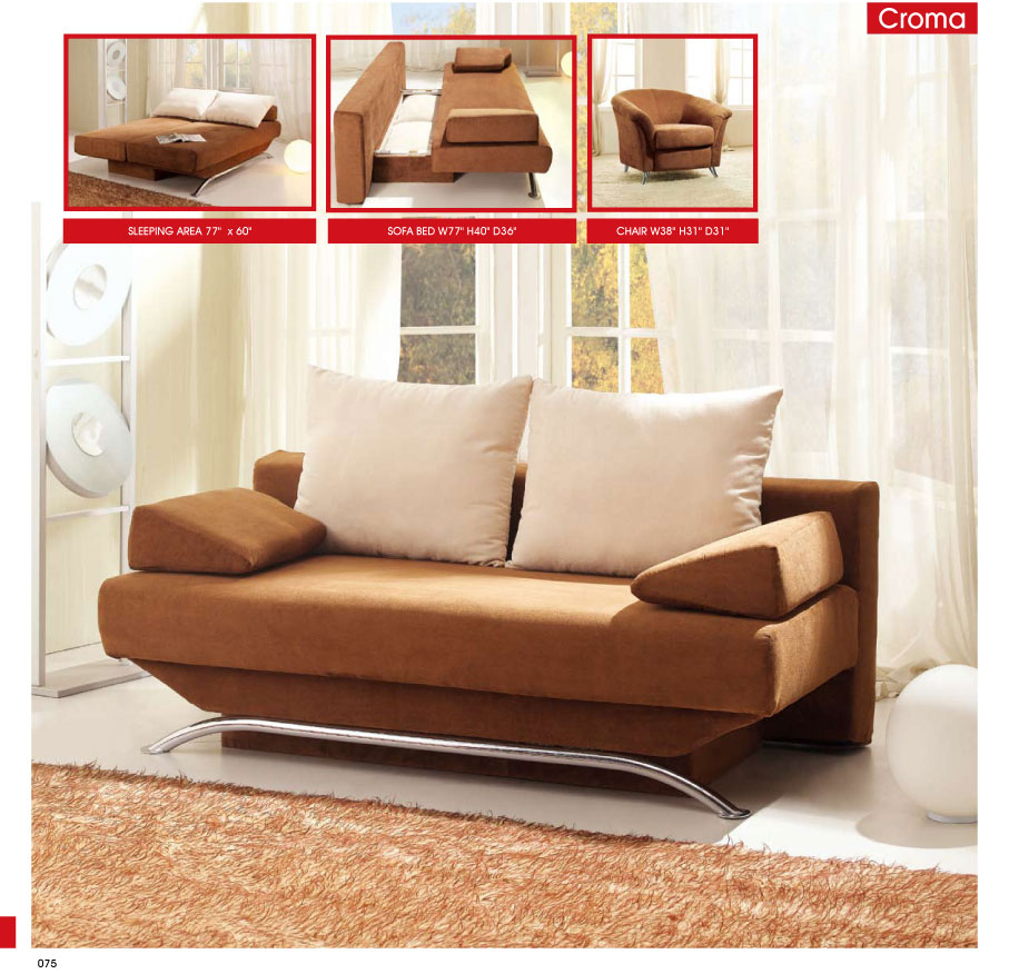 Great Sofa Beds For Small Bedrooms Design : Classy Brown Modern Sofa Beds For Small Bedrooms Metal Frame Living Room Furniture