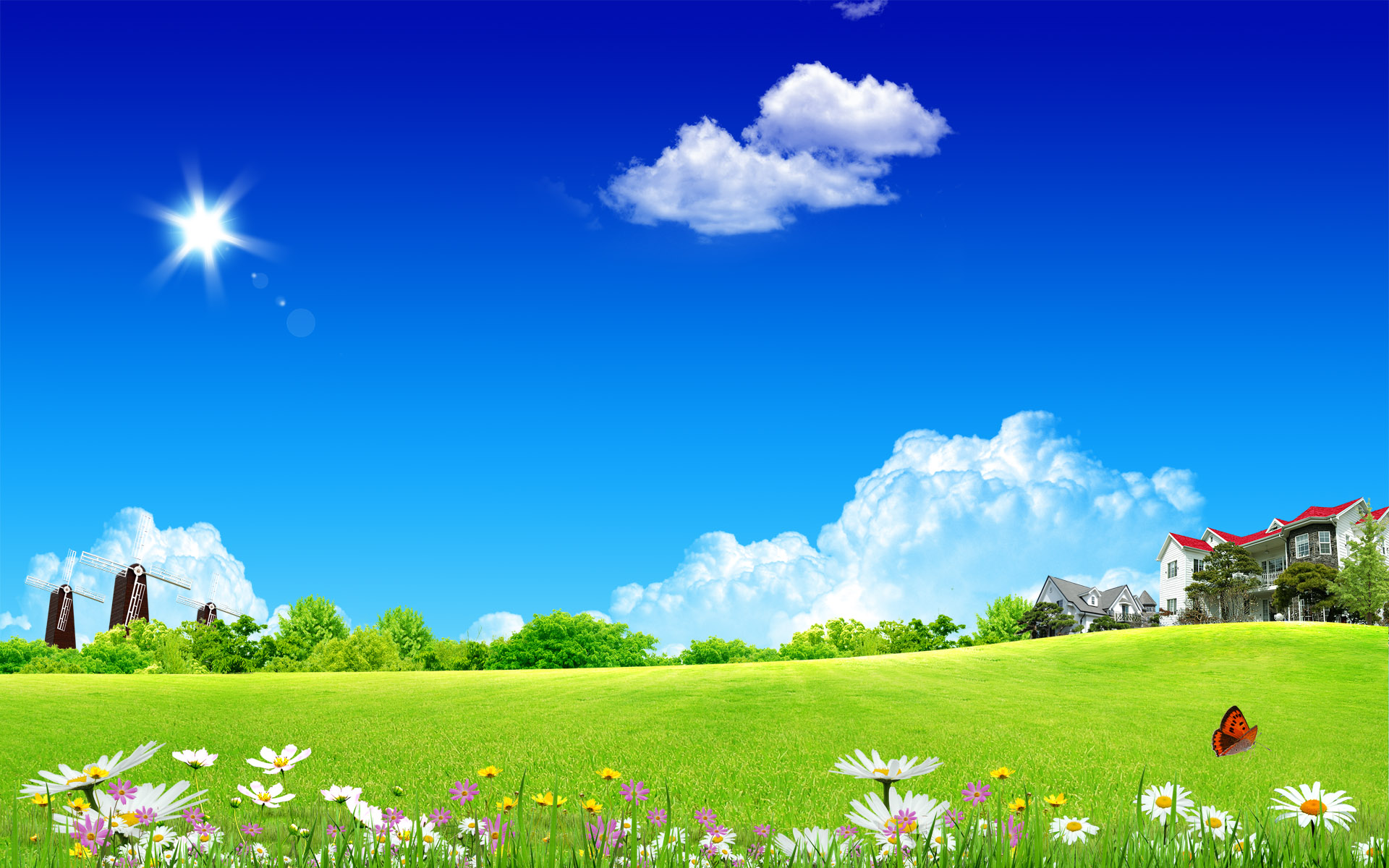 Cool Wallpaper For Home, Feels So Great : Clean Home Sky Wide Wallpaper