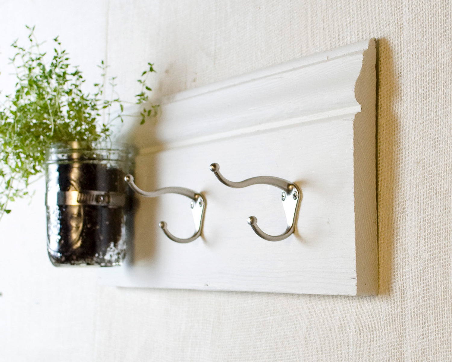 Extraordinary Wall Hooks For Coats As Your Simple Amazing Inspiration: Coat Hooks With Wall Vase Mason