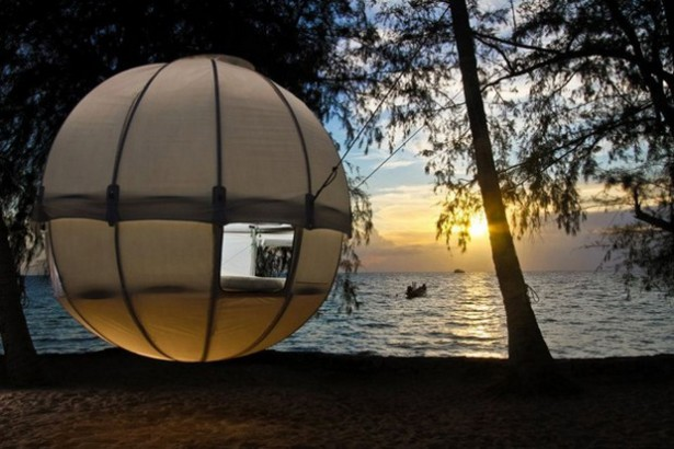 Tree Tent Design That Has The Rounded Idea: Cocoon Tree Tent On The Beach ~ stevenwardhair.com Tips & Ideas Inspiration