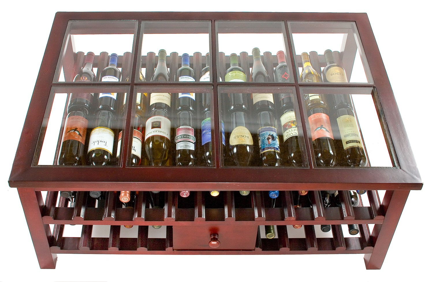 Eclectic Wine Rack For Contemporary House : Coffie Table Wine Rack Glass Top Table Nice Wine Rack Ideas