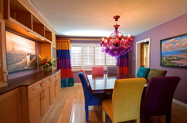 Superbe Stylish Dining Room Sticking Out Modesty Ideas In Your Home : Colorful  Dining Room With Square