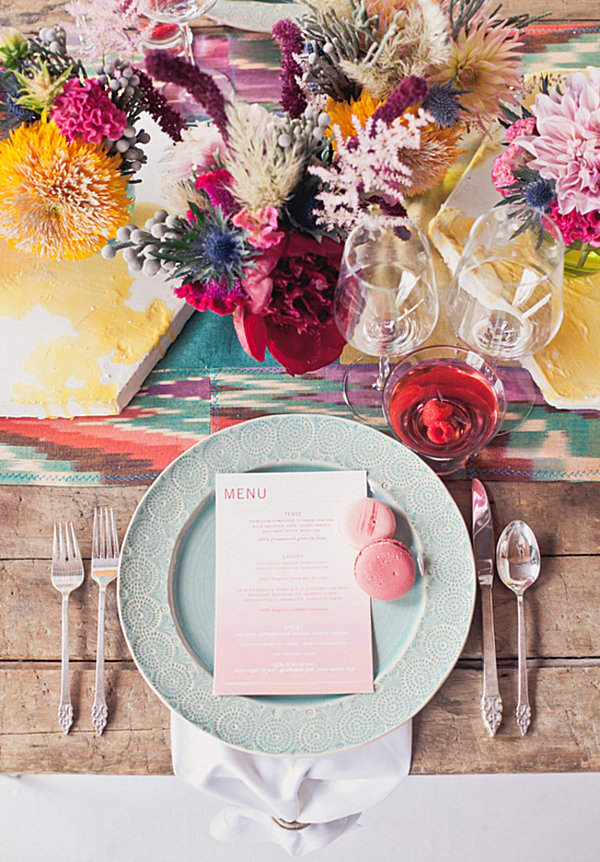 Comfortable Wedding Table With Soft Touch: Colorful Indie Wedding Table ~ stevenwardhair.com Design & Decorating Inspiration