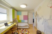 Sporty Interior Design Of Vienna Penthouse : Colorful Kids Bedroom Design