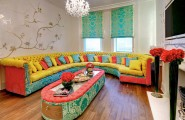 Interior Designs For Living Rooms Aspects And Statement : Colorful Living Room Furniture Sofa Cushions Interior Designs For Living Rooms
