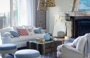 Interior Design Idea: Identifying Your Own Style : Comfortable Living Room With Rustic Interior And White Fabric Furniture Design
