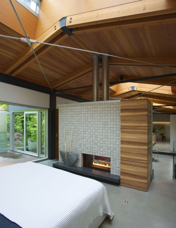 Modern Natural House With The Natural Color : Comfortable Plush Contemporary Bedroom At The Southlands Home Interior