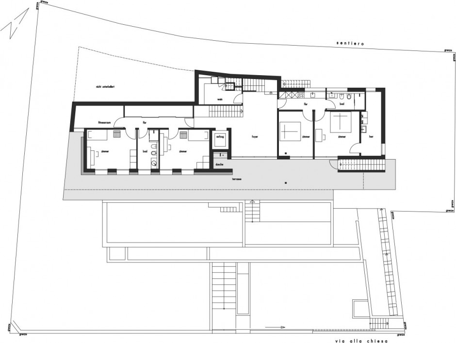 Amazing Luxury Home Ideas For Stunning Look In White Theme : Complete Floor Plan Project Of Minimalist Large House Lombardo
