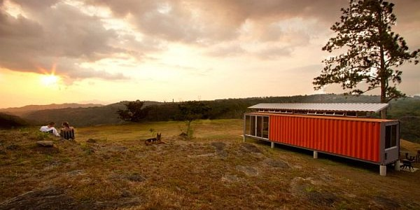 Fine Designed Houses Made From Shipping Containers With Classy Furnishings : Conatiners Of Hope Nestled In A Natural Setting