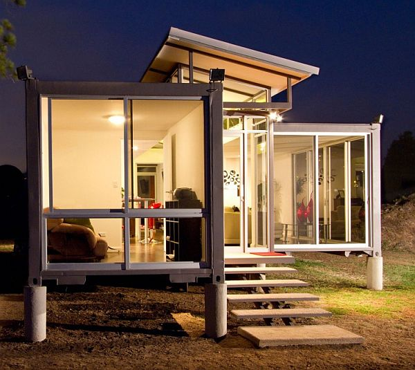 Fine Designed Houses Made From Shipping Containers With Classy Furnishings : Containers Of Hope Extensive Use Of Glass For A Transperant Look