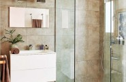 Classy Eclectic Apartment In Mallorca: 12 Encouraging Images : Contemporary Bathroom With Shower