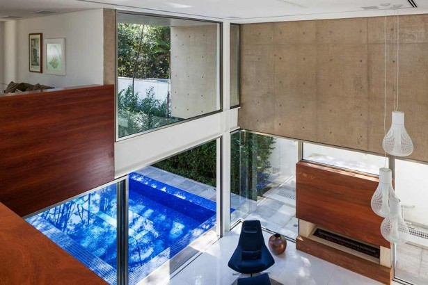 Luxurious Modern Home Design; Four Leveled House: Contemporary Design With Wooden Panels And Artistic Lamps ~ stevenwardhair.com Modern Home Design Inspiration