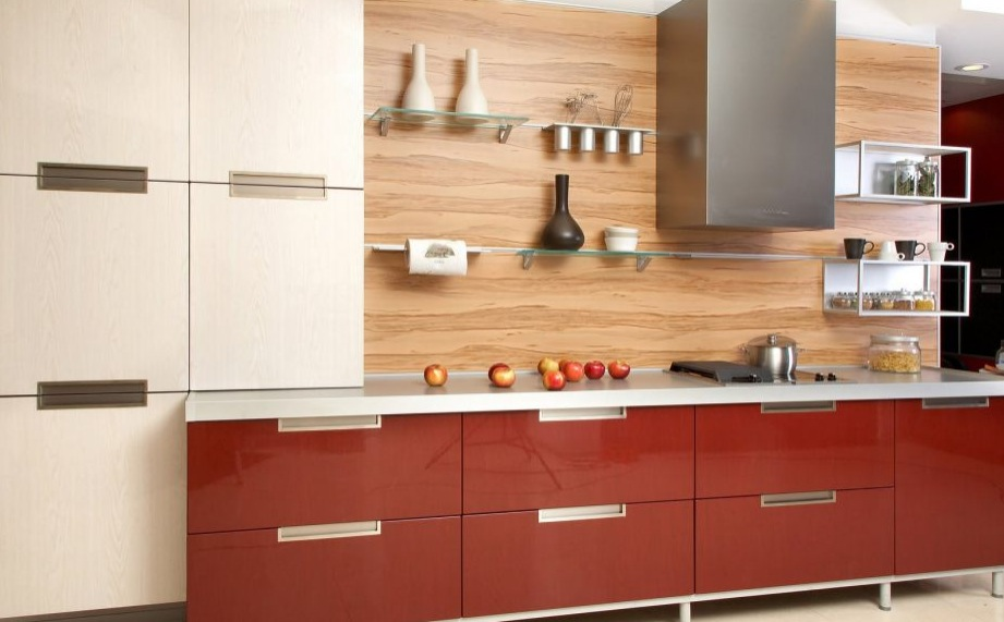 Top Attractive Kitchen Backsplash Ideas With Creative Painting : Contemporary Kitchen Cabinet Glass Wallbars Attractive Kitchen Backsplash Ideas