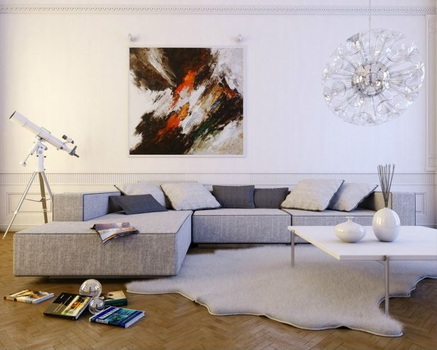 Exclusive Stunning White Living Rooms Ideas: Contemporary Light Gray L Shaped Sofa ~ stevenwardhair.com Living Room Design Inspiration