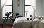 Bike Storage Ideas For Small House : Contemporary Room Antique Bike Teapot Bed
