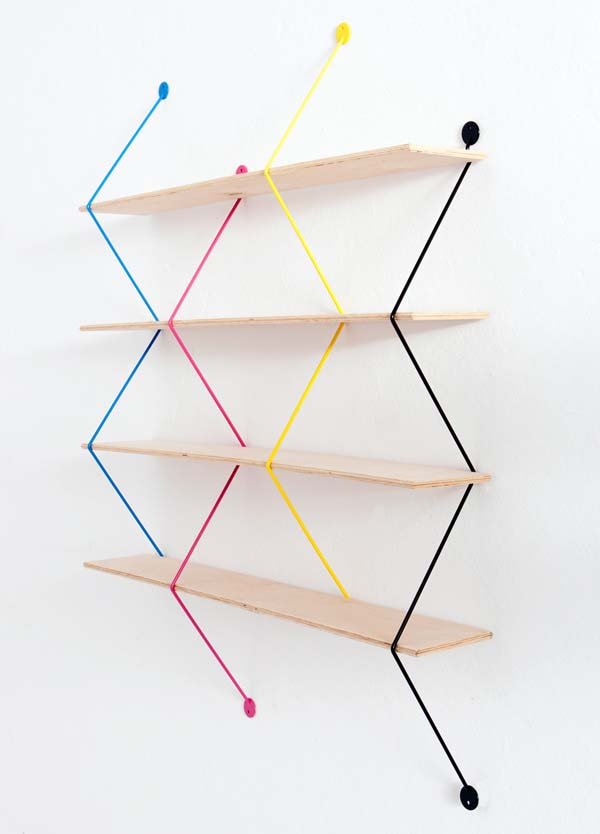 Modular Shelving Units Of Cubit And Grid Wire: Contemporary Serpant Modular Shelving Units System Minimalist Furniture