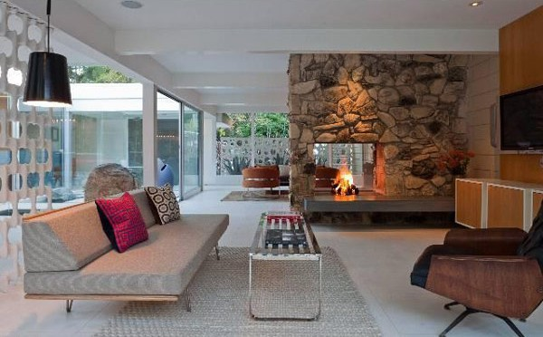Stone Fireplace Design Comes With The Natural Idea: Contemporary Stone Fireplace Ideas
