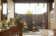 Amazing Tropical Bathroom Design Comes With The Unexpected Idea : Contemporary Tropical Bathroom