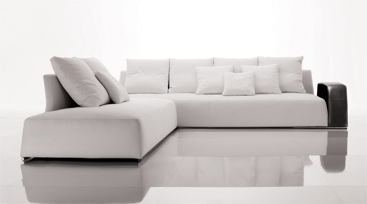 White Sofas With Unique Ambiance : Contemporary White Corner Sofa