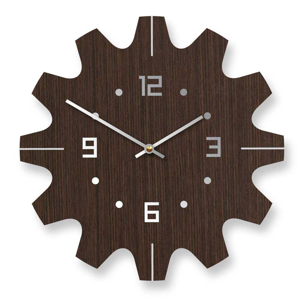 Great Wall Decoration For Contemporary House: Contemporary Wooden Brown Wall Clocks