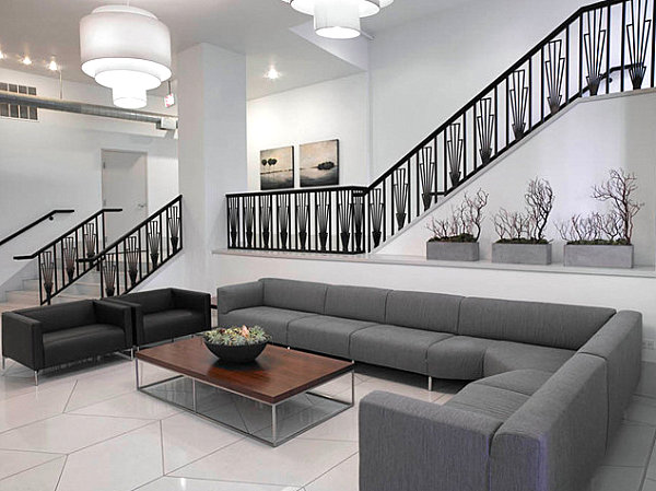 Lobby Design Concept With Stunning Idea: Contepmorary Chicago Residential Lobby