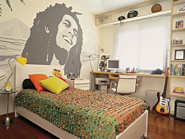 Inspirational Cool Room Designs For Guys With Directed Theme: Cool Bedrooms For Guys With Bob Marley Graphic ~ stevenwardhair.com Bedroom Design Inspiration
