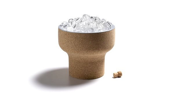 Eco Friendly Cork Design As Furniture For Your House: Cool Corkway Gelo Cork Ice Bucket With Brown Color Design Ideas