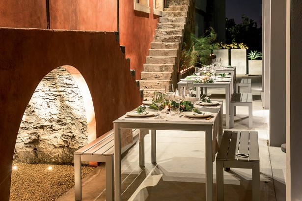 Top Historical Fragments With Modern Design In Sicily: Cool Outdoor Dining Room Design With Rustic Wooden Furniture ~ stevenwardhair.com Architecture Inspiration