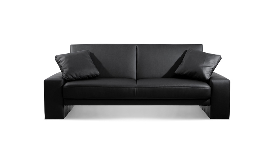 Black Sofas Of Modern Look In A Living Room : Cool Sofa With Elegant Black Color Single Kos