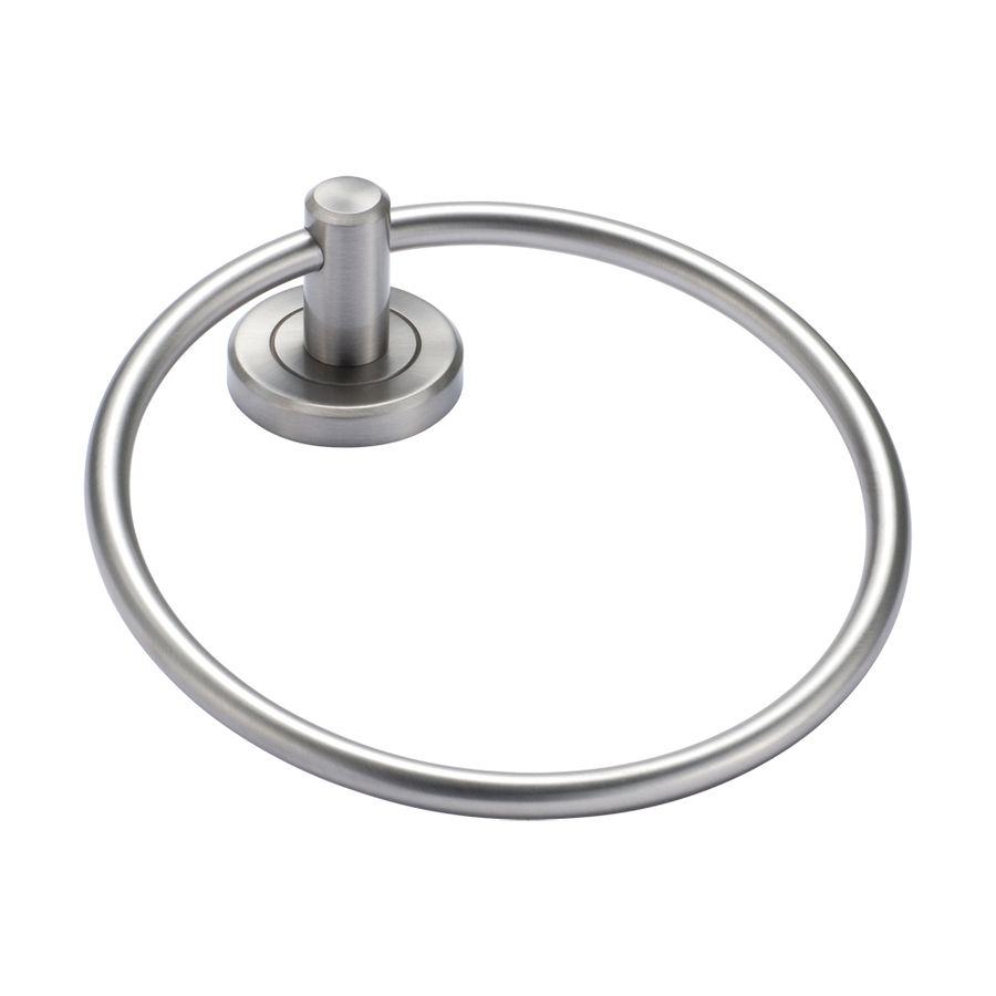 Inspiring Towel Ring Design To Furnish Minimalist Bathroom: Cool Stainless Steel Towel Ring Design Wall Mounted Fitting