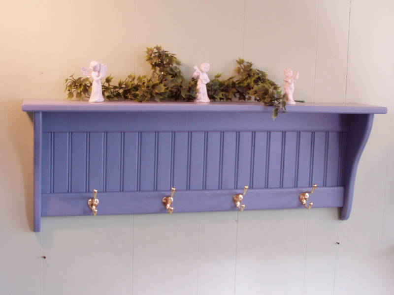 Extraordinary Wall Hooks For Coats As Your Simple Amazing Inspiration: Country Blue Coat Rack Wall Shelf