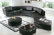 Beautiful And Affordable Modern Furniture For Your House : Cozy Affordable Modern Furniture Black Color Sectional Design Ideas