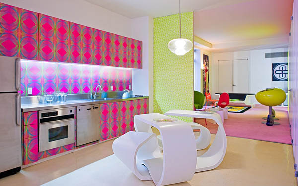 Lively Popular Arts Beautifying Modern Interior Look: Cozy Modern Kitchen Design And White Unique Kitchen Table ~ stevenwardhair.com Interior Design Inspiration