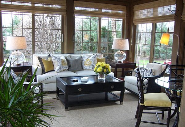 Enchanting Furniture Style To Furnish Sunroom Interior : Cozy Sunroom