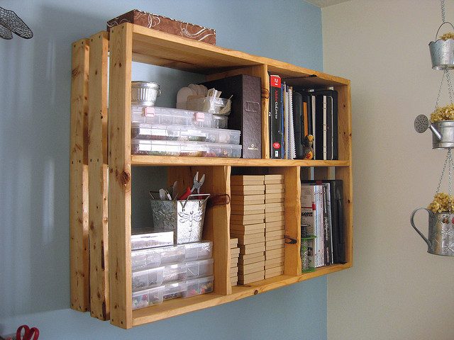 Smart Homemade Bookshelves With Exceptional Shape: Creative Homemade Bookcase Design