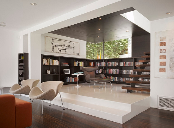 Marvelous Ideas For Your Open Plan Room : Creative Ideas An Elevated Floor Creates Organized Space Without Walls