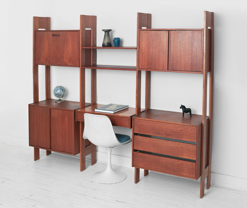 Modular Shelving Units Of Cubit And Grid Wire: Creative Minimalist Home Office Furniture White Chair Wooden Modular Shelving Units