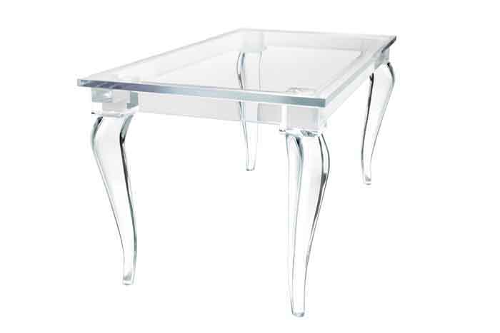 Stylish Lucite Desk For Clear Beauty: Crenelle Lucite Table