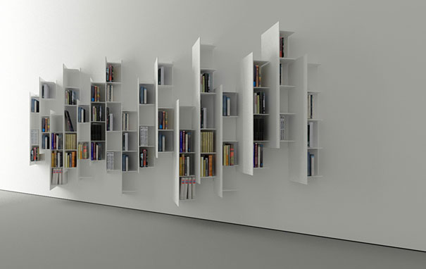 Bookshelf Design Of Spiral Fashion: CTline Creative Bookshelves