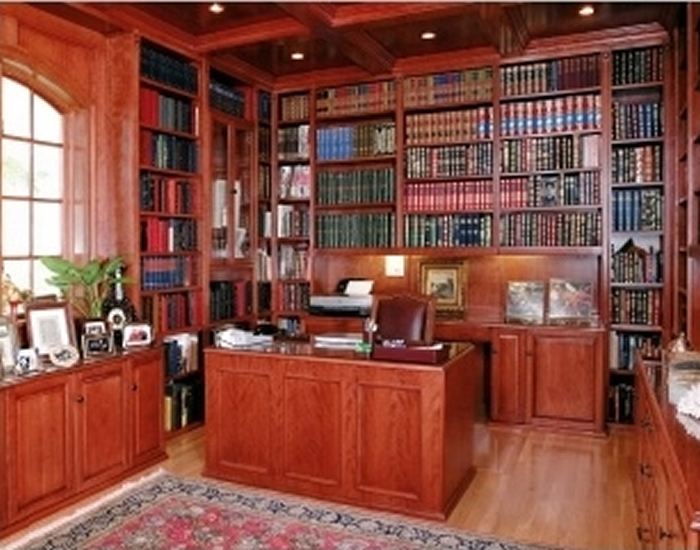 Interior Design: Custom Home Library Interior Design, Home ...
