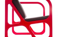 Geometric Modern Chair For Every Room Decoration : Cute Of Red Obivan Chairs Design In Math Shape