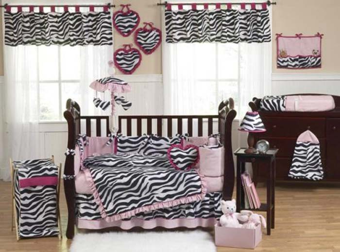 Interesting Zebra Room Accessories For Nice Decoration : Cute Zebra Bedroom Furniture Theme
