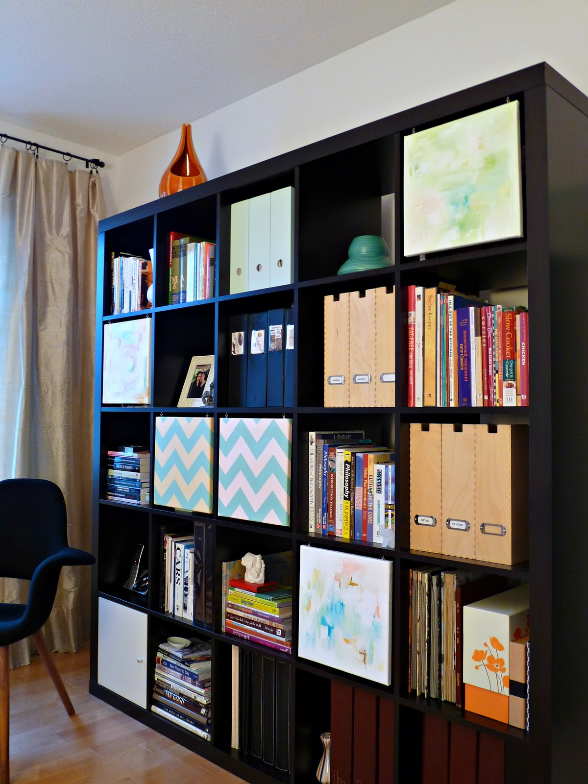 Visual Ikea Expedit Hack With Artistic Design : Dans Le Townhouse Ikea Hack Expedit Angle Shot